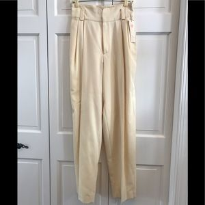 Ellen Tracy Classic Cream Trouser Pant
